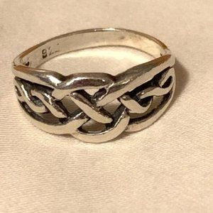 Jewelry - Sterling Silver Celtic Twist Braid Ring Size 6 3/4